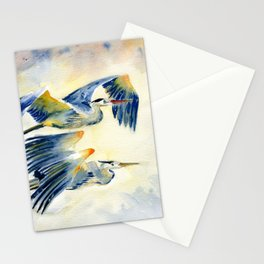 Flying Together - Great Blue Heron Stationery Cards
