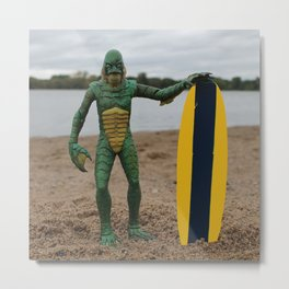 "Surfer ""Dude"" Metal Print"
