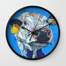 Leticia the Cow Wall Clock