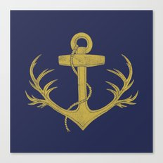 Antlered Anchor (option) Canvas Print