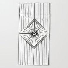 Dark Eye Beach Towel