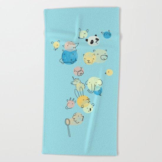 Bubble Animals Beach Towel