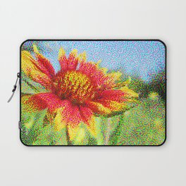 Red Flower in a Field Laptop Sleeve