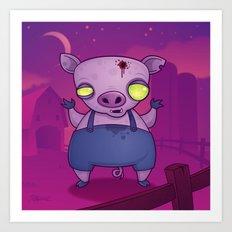 Zombie Pig Art Print