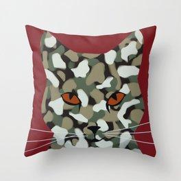 Hell Cat Throw Pillow