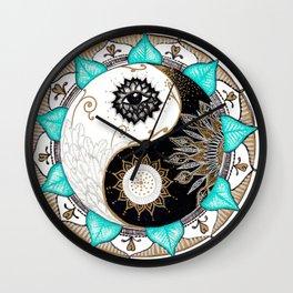 Yin and Yang Mandala Wall Clock