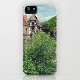 Kaysersberg, beautiful french village with german architecture iPhone Case