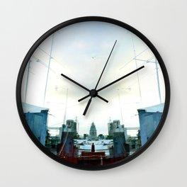Static captured or interpreted as precipitation. Wall Clock