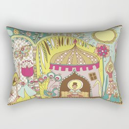 Yogashala by Justine Aldersey-Williams Rectangular Pillow