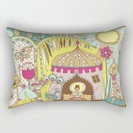 Yogashala by Justine Aldersey-Williams Rectangular Pillow