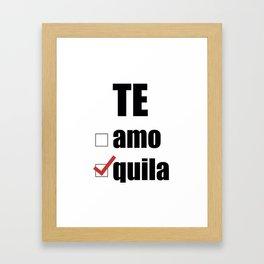 Te quila Framed Art Print