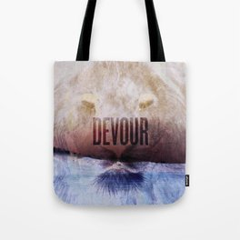 Devour Nature Like A Lion Tote Bag