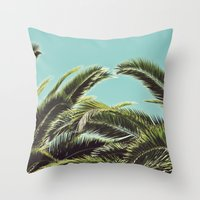 palms Throw Pillows featuring Palms by Lawson Images