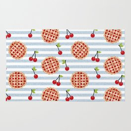 Pies with stripes trendy food fight apparel and gifts Rug