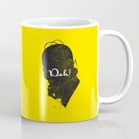 simpson Mugs featuring Doh – Homer Simpson Silhouette Quote by Spades