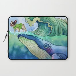 Whale Surfing Laptop Sleeve