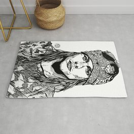 Axel Rose Portrait Rug