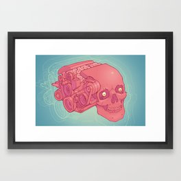 An Unquieted Mind Framed Art Print