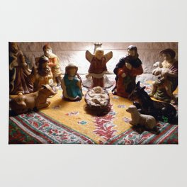 Unto us a child is born... Rug