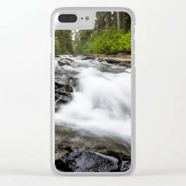 Rush - Paradise River Rushes to Falls in Mt. Rainier National Park Clear iPhone Case