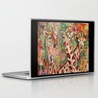 giraffes Laptop & iPad Skins featuring Giraffes by Peggy Krantz Art