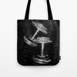 Chrome Dumbbells  Tote Bag