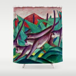 "Franz Marc ""Monkey Frieze (Affenfries)"" Shower Curtain"