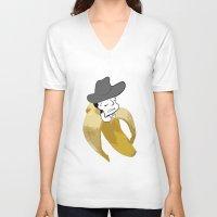 cowboy V-neck T-shirts featuring cowboy by DESIGN KIKI