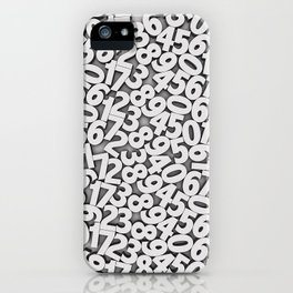 By the numbers iPhone Case