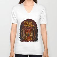 aragorn V-neck T-shirts featuring Those Who Wander by Olena Nemitkova