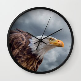Bald Eagle Cloud Montage Wall Clock