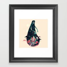 Night Time. Framed Art Print