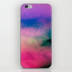 Fog Forest Mountain - Pink Rainbow Northern Lights iPhone & iPod Skin
