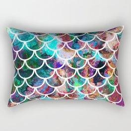 Fish Scales & Rainbow Colors Rectangular Pillow