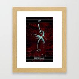 A Tarot of Ink Major Arcana XV The Fallen or The Devil Framed Art Print