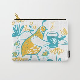 Cafe Le Quail (Gold) Carry-All Pouch