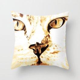 Cat with an attitude Throw Pillow