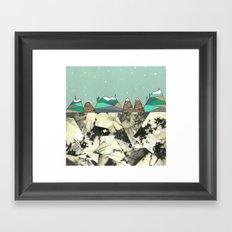 Winter Slopes Framed Art Print