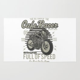 Caferacer Motorcycle Vintage Poster Rug