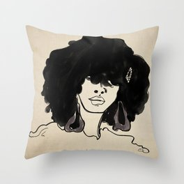 Styled Fro Throw Pillow