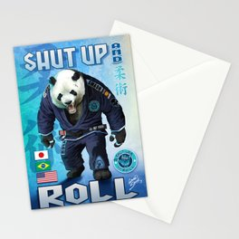 Shut Up and Roll Panda Stationery Cards