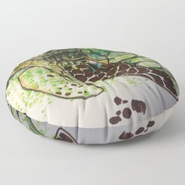 Hawksbill Sea Turtle Floor Pillow