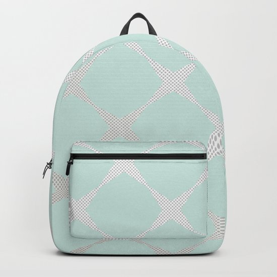 Polka Dots & Mint Tiles Backpack