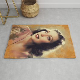 Loretta Young, Vintage Actress Rug