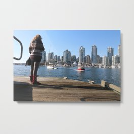 Waiting for False Creek Ferries Metal Print
