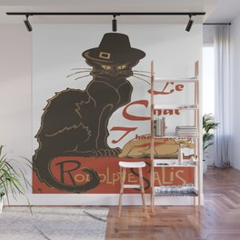 Le Chat De Thanksgiving Wall Mural