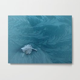 a leaf in the current Metal Print