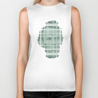 literary Biker Tanks featuring The Various Parts of Mr. Lincoln Exploding Towards the Viewer by Literary Mint