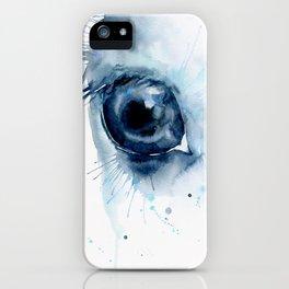 Watercolor Horse Eye iPhone Case