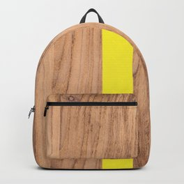 Wood Grain Stripes Yellow #255 Backpack